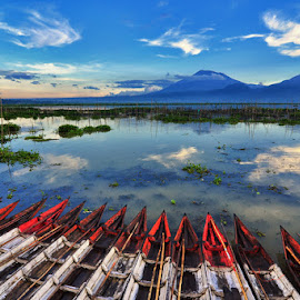 Boat by Buyung Sukananda - Landscapes Waterscapes