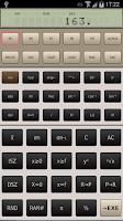 Screenshot of FX-602P scientific calculator