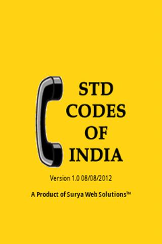 STD Codes of India