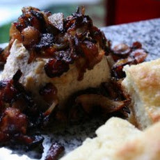 Baked Ricotta with Bacon and Caramelized Onions