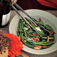 Buttered Green Beans and Mushrooms