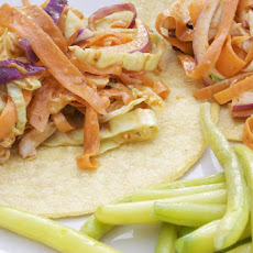 Chicken & Citrus Slaw Tostadas