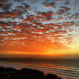 Sunrise over False Bay South Africa by De Wyk - Instagram & Mobile iPhone