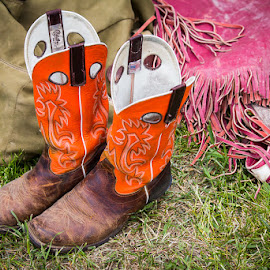 Fancy by Ron Mullins - Sports & Fitness Rodeo/Bull Riding ( riggin, cowboy, rodeo, cowgirl, working, chaps, boots )