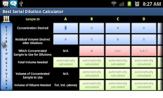 Screenshot of Best Serial Dilution Calc