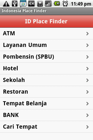 Indonesia Place Finder
