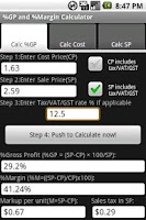 Screenshot of Free %Gross Profit Margin Calc