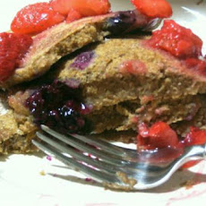 Whole Wheat Vegan Berry Spice Pancakes for One