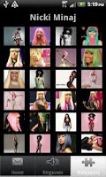 Screenshot of nicki minaj ringtones and wall
