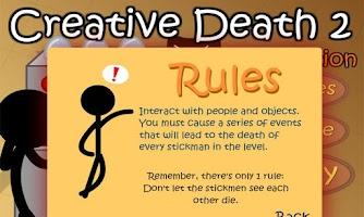 Screenshot of Stickman Creative death 2