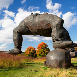 3 Legged Buddha by Bala Ve - Buildings & Architecture Statues & Monuments ( statue, storm king art center, art, new york, 3 legged buddha )
