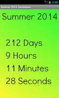 Screenshot of Summer 2014 Countdown