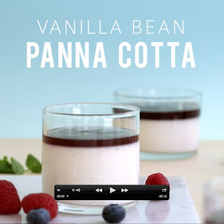 Vanilla Bean Panna Cotta with Mixed Berry Compote