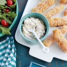 Oven-Fried Fish Sticks With Tartar Sauce From 'Lighten Up, America!'