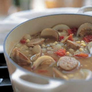 Sausage, Corn and Clam Soup