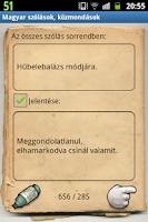 Screenshot of Magyar szólások, közmondások