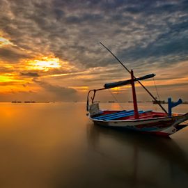 sunrises boat by Ahmad Sahroni - Transportation Boats