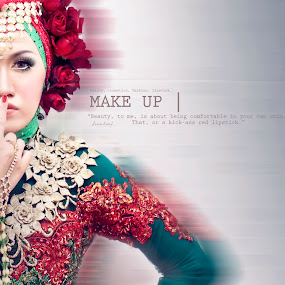 about make up by Sesar Arief - Typography Captioned Photos ( indonesia, makeup, rumahcantik, hijab, portrait, setioayu )