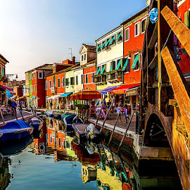 by Adeline Tan - Buildings & Architecture Other Exteriors ( building, colourful, burano, architecture, italy, , water, device, transportation )