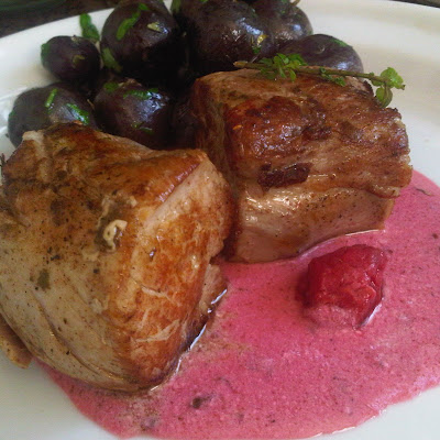 Pork Tenderloin with Raspberry and Lavender