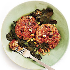Black-Eyed Pea Cakes and Beer-Braised Turnip Greens
