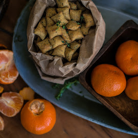 Snacking by Amy Soucy - Food & Drink Fruits & Vegetables ( clementine, food, tabletop, tray, oranges, snack )