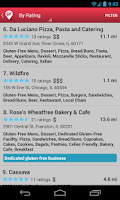 Screenshot of Find Me Gluten Free