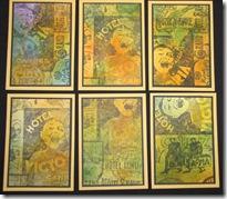 6 Lynn Roberts Hotel Stamp ATCs 2