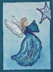 Lynn Roberts 10 Foam Stamp Angel Seeking Star