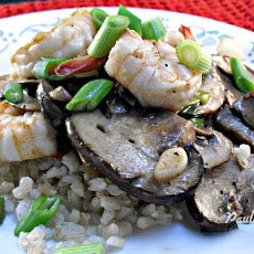 Stir Fried Shrimp and Mushrooms