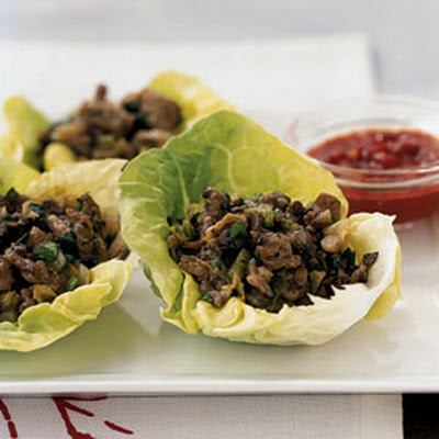 Chinese Chicken and Mushroom Lettuce Cups