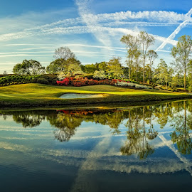 The 10th by Dave Sansom - Landscapes Prairies, Meadows & Fields ( 'professional golf course photography', 'private golf club', 'professional golf course photographer', 'golf course', 'horseshoe bend', georgia, golf, atlanta, 'dave sansom' )