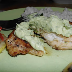 Cumin Dusted Chicken Breasts With Guacamole Sauce