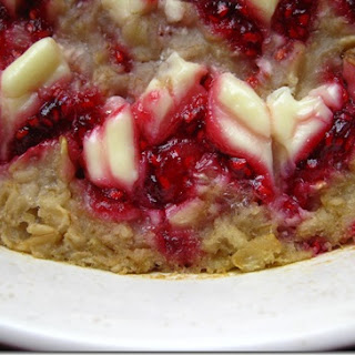 Baked Raspberry Cheesecake Oatmeal!