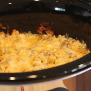 Slow Cooked Cheeseburger Casserole