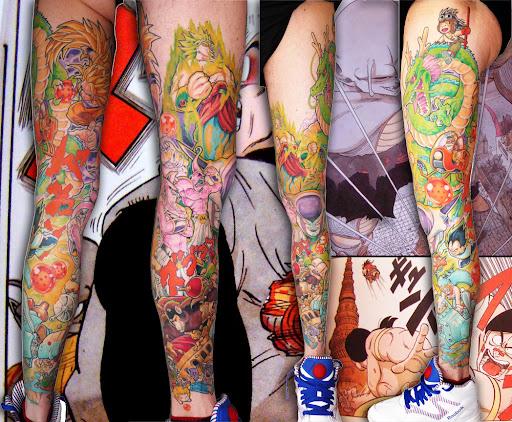 le plus classe des tatouages dragon ball vient de chez nous