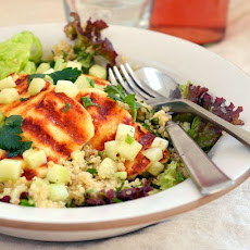Grilled Halloumi and Quinoa Salad
