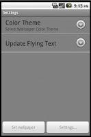 Screenshot of Flying Text Live Wallpaper