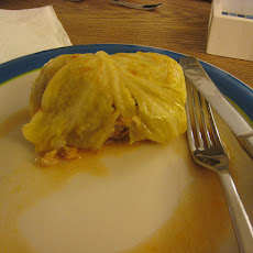 Swedish cabbage rolls (kaldolmar)