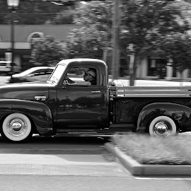 Going To Town by Roy Walter - Transportation Automobiles ( pickup, chevrolet, black & white, v8, transportation )