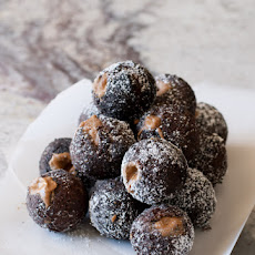 Chocolate Cookie Butter Filled Donut Holes