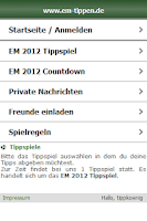 Screenshot of WM 2014 Tippspiel