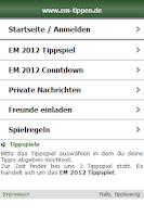 Screenshot of WM 2014 Tippspiel