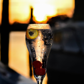 Relaxing at Sunset by Diane Davis - Food & Drink Alcohol & Drinks
