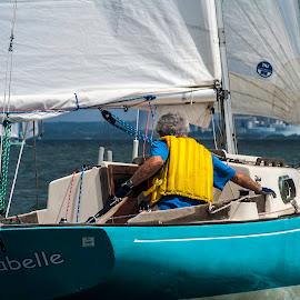 Skilled single hand by Matt Weaver - Sports & Fitness Watersports ( tyc, sira, mount hope, ri, byc, boat, race, bay, sailing, rhode island, racing, sail, xti, mohosa )