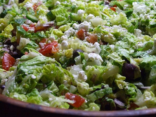 Chopped Vegetable Salad w/ Feta & Olives Recipe | Yummly