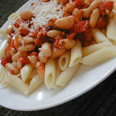 Pasta and White Beans in Light Tomato Sauce