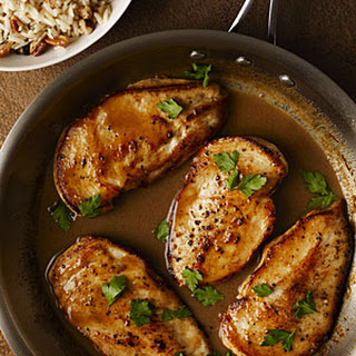 Cider-Glazed Chicken with Browned Butter-Pecan Rice