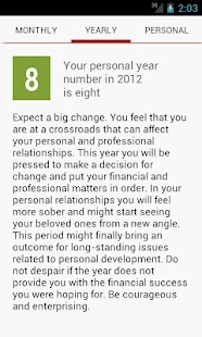 Numeroscope - Daily Horoscope - screenshot