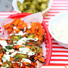 Grilled BBQ Sweet Potato Nachos